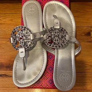 Tory Burch Metallic Miller Sandals